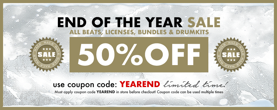 END OF THE YEAR SALE - Everything 50% OFF